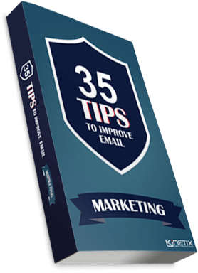 Cover of 35 Email Marketing Tips eBook